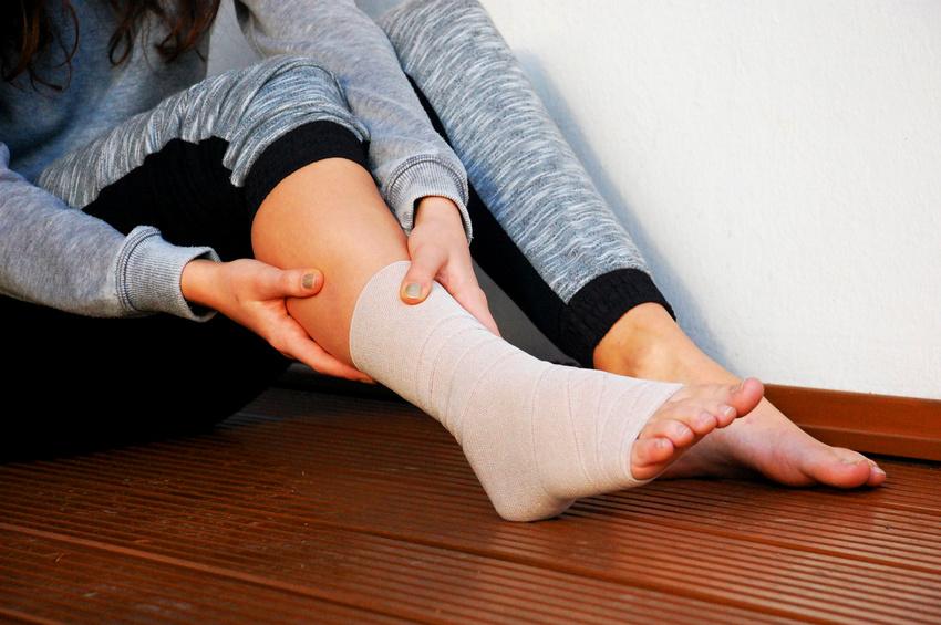 Bandagierter Bänderriss